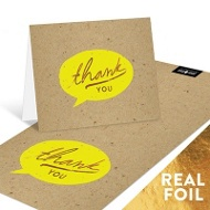 Say It With Foil Thank You Cards