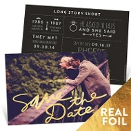 Bold Foil Save The Date Cards