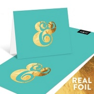 Foil Ampersand Note Cards