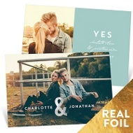 Me & You Foil Save The Date Cards