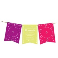 Fiesta Banner Baby Shower Invitations