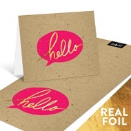 Say Hello With Foil Note Cards