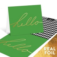 Pattern & Foil Hello Note Cards