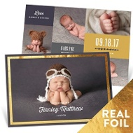 Gilded Frame Baby Boy Announcements