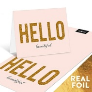 Foil Hello Somebody Personalized Note Cards