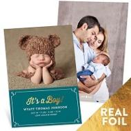 It's A Boy Foil Baby Boy Announcements