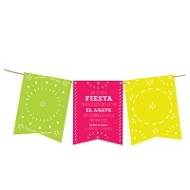 Fiesta Bunting Banner Party Invitations
