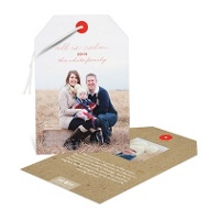Photo Tag Christmas Cards