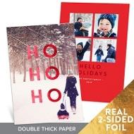 Ho Ho Ho Vertical Premium Christmas Cards