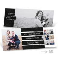 Silver Greeting Slider Premium Christmas Cards