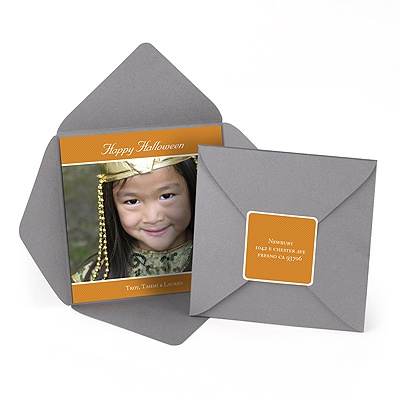 Simply Enclosed -- Halloween Pocket Photo Card