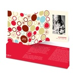 Circular Bursts -- Trifold Photo Christmas Card