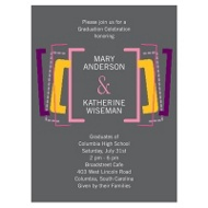 Party for Two- Joint Graduation Invitation