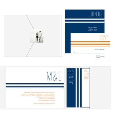 Lovely Lines Ensemble Wedding Invitations