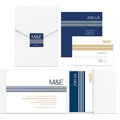 modern pocketfold wedding invitations