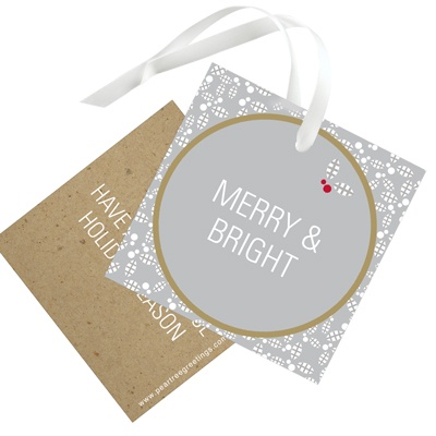 Holly Flurry Christmas Gift Tags