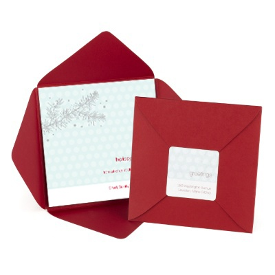 Silver Snowflake Greeting Business Holiday Card