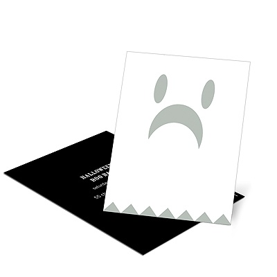 Spooky Ghost -- Kids Halloween Invitation