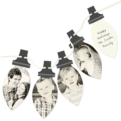 Four Photo Picture Perfect Lights -- Holiday Photo Cards