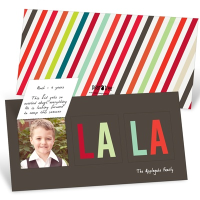 Pop-Up FA-LA-LA -- Unique Holiday Photo Cards