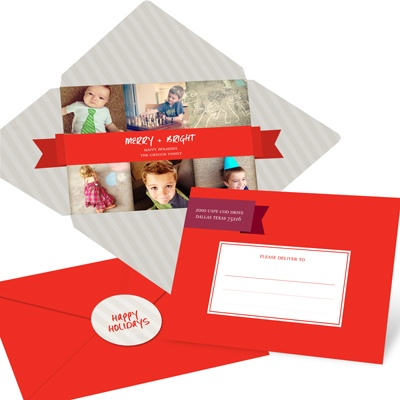 Wrapped in Seasonal Bliss -- Holiday Photo Cards