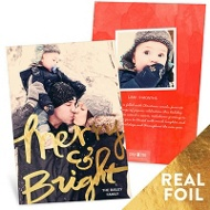 Bold Foil Holiday Photo Cards