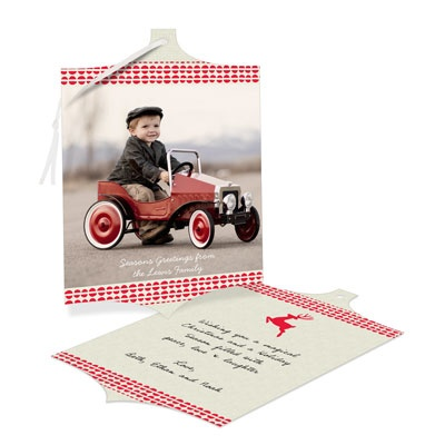 Reindeer Games Ornament Holiday Photo Cards