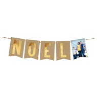 Noel Faux Foil Banner Holiday Photo Cards