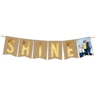 Shine Faux Foil Banner Holiday Photo Cards