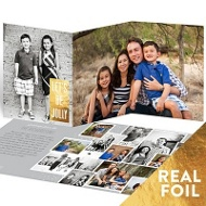 Scattered Pictures Foil Greeting Holiday Photo Cards