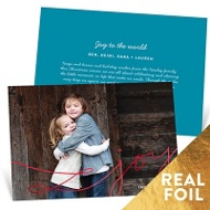 Joy Foil Swirls Holiday Photo Cards