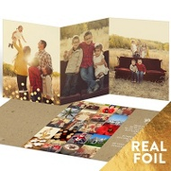 Let It Shine Trifold Holiday Photo Cards