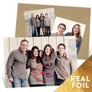 Foil Joy Wreath Holiday Photo Cards