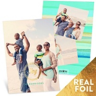 Foil Joy Wreath Vertical Holiday Photo Cards