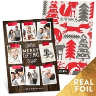 Shining Foil Tape Holiday Photo Cards