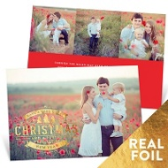 Ornate Greeting Holiday Photo Cards