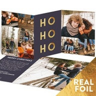 Ho Ho Ho Trifold Holiday Photo Cards