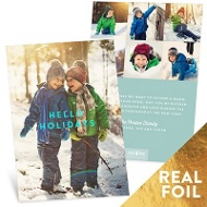 Hello Holidays Vertical Holiday Photo Cards