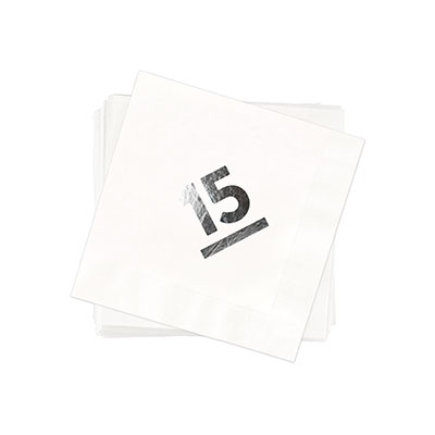 My Big Year Silver Foil Beverage Size Graduation Napkins
