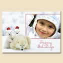 Santa Cubs Foldover Photo Card