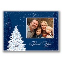 Holiday Sparkles Photo Thank You Card