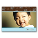 Snow Fun Photo Thank You Card