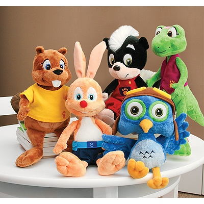 Wild Animal Baby Plush - Set of 5