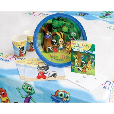 Wild Animal Baby Explorers Birthday Kit