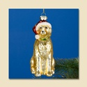Golden Retriever Glass Ornament