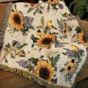 Sunflowers and Goldfinches Throw