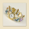 Dragonflies and Flowers Stretch Watch