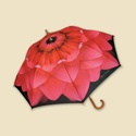 Pink Dahlia Stick Umbrella