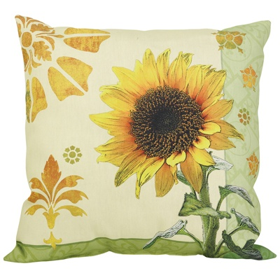 Sunflower Weather Resistant Pillow