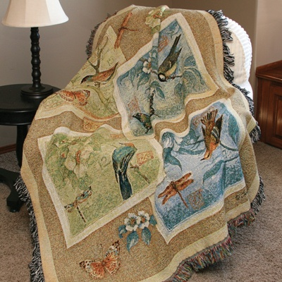 Nature's Sketchbook Tapestry Throw